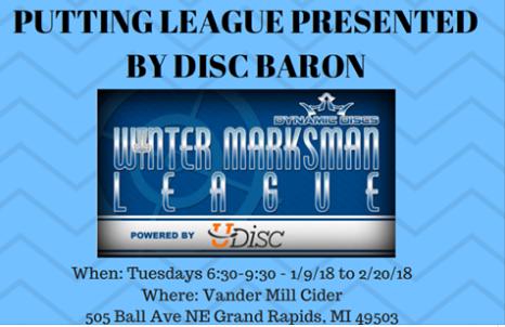 Winter Disc Golf Marksman League