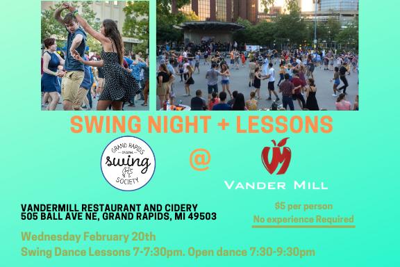 Swing Night + Lessons at Vander Mill
