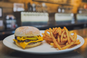 smash burger and fries
